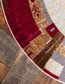 5' 5 x 5' 5 Tribe Round Rug thumbnail