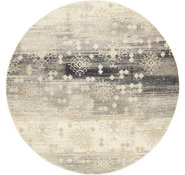 Image of  Dark Gray Illusion Round Rug