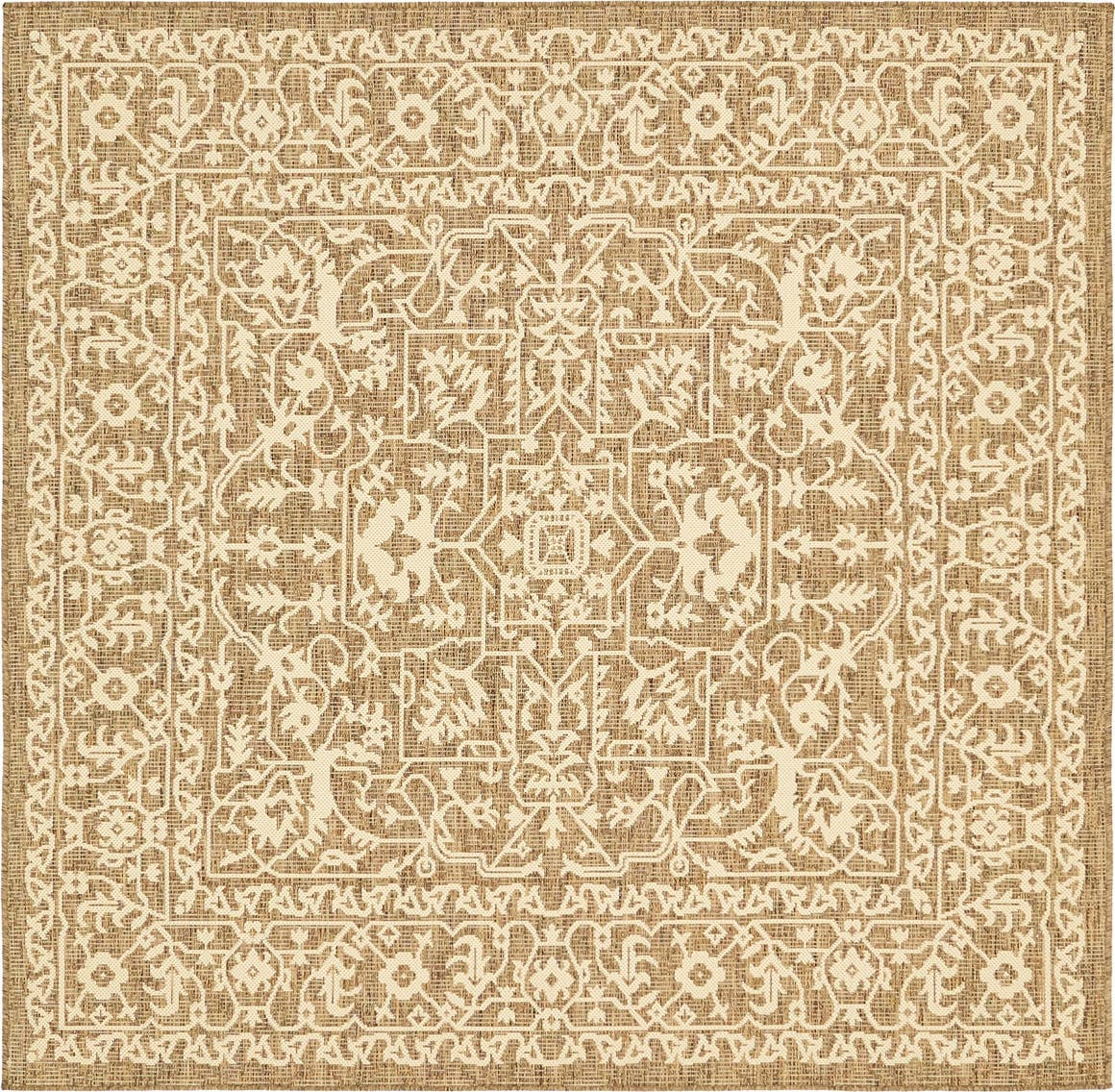 Outdoor Botanical Square Rug