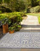 6' x 6' Outdoor Botanical Square Rug thumbnail
