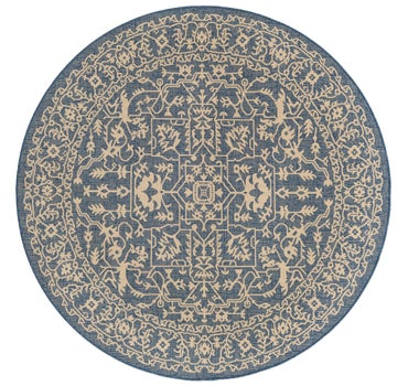 6' x 6' Outdoor Botanical Round Rug main image
