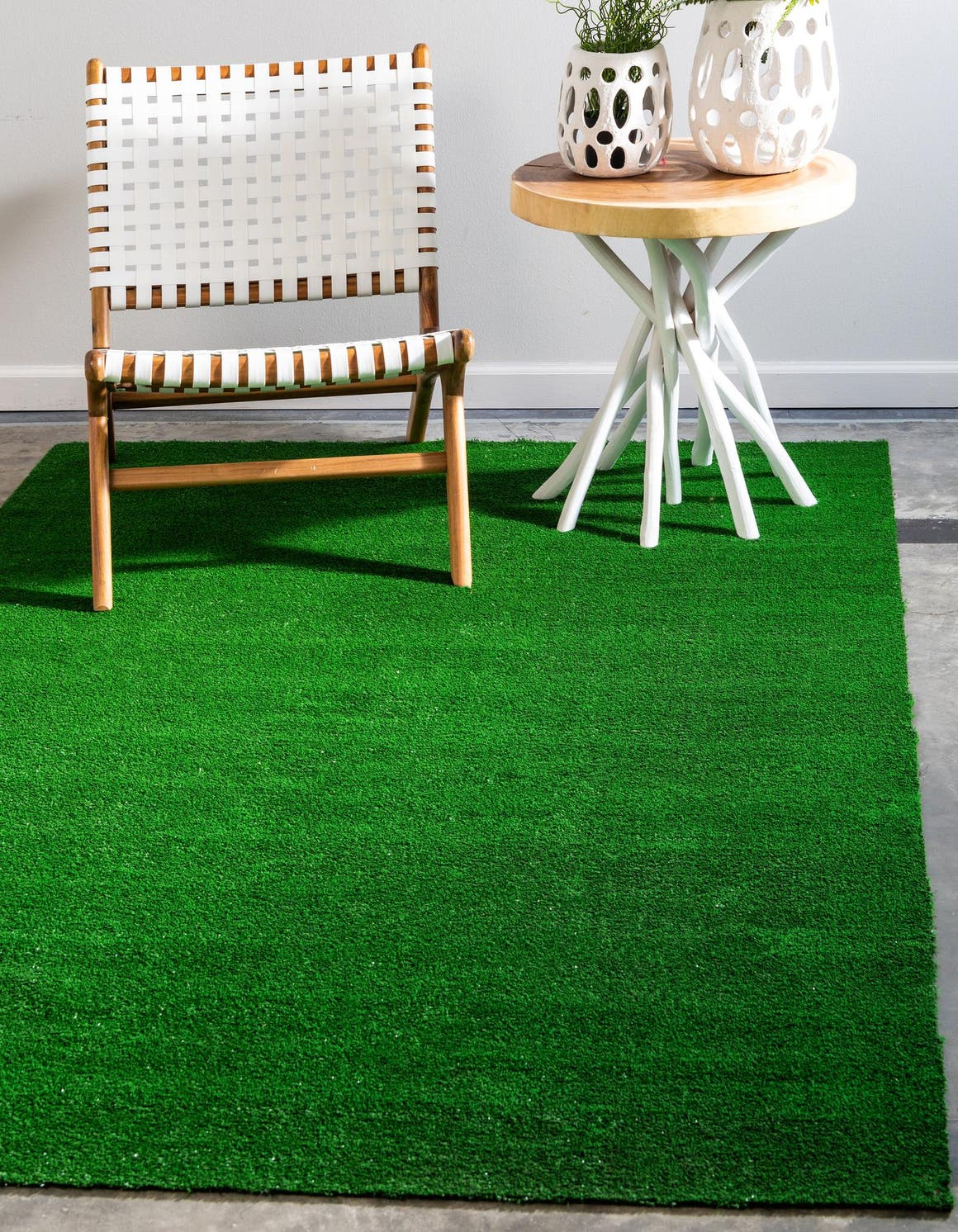 Green  5' x 8' Outdoor Grass