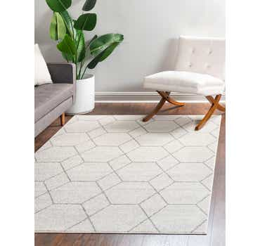 Image of  Ivory Lattice Frieze Rug