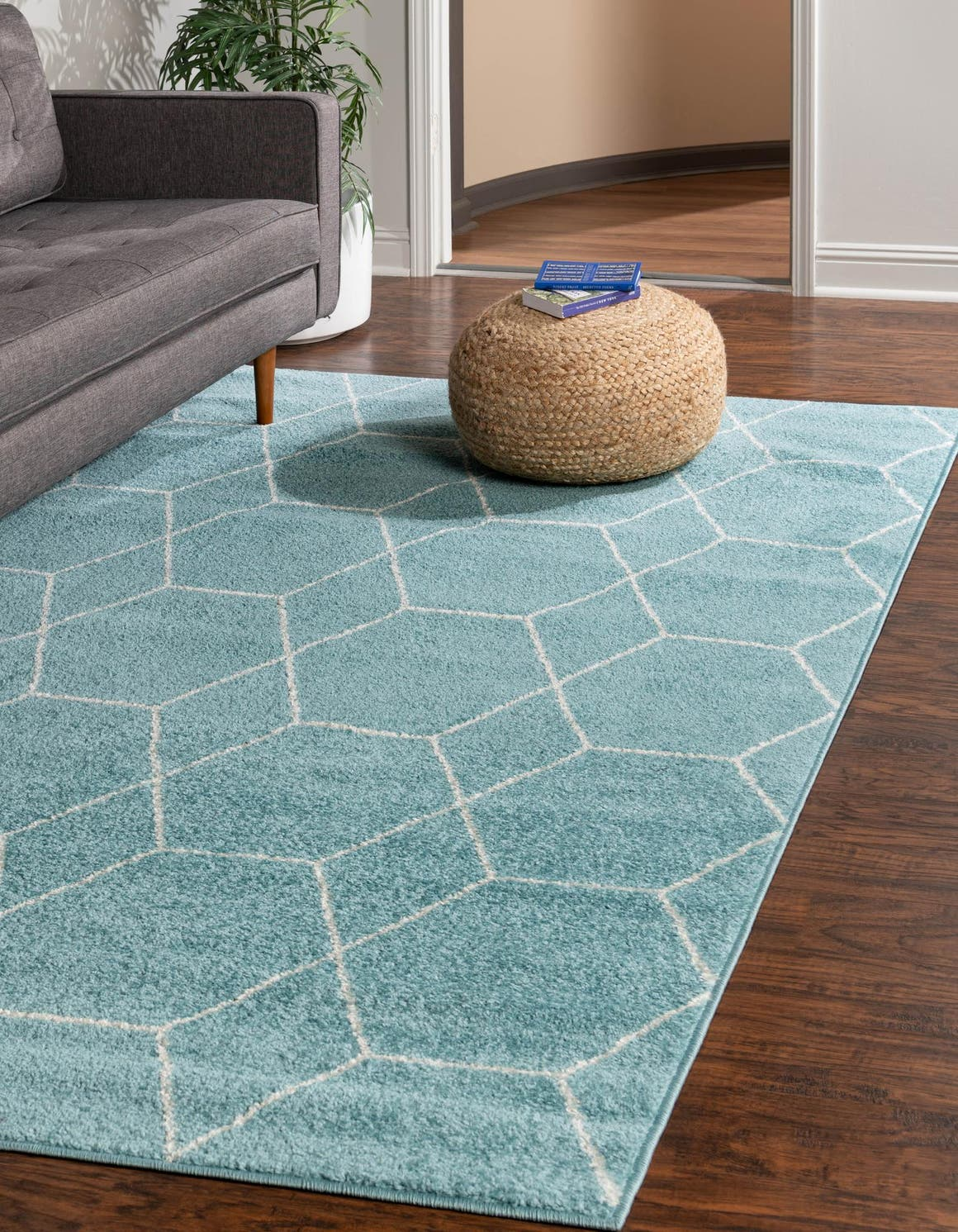 152cm x 245cm Trellis Frieze Rug main image