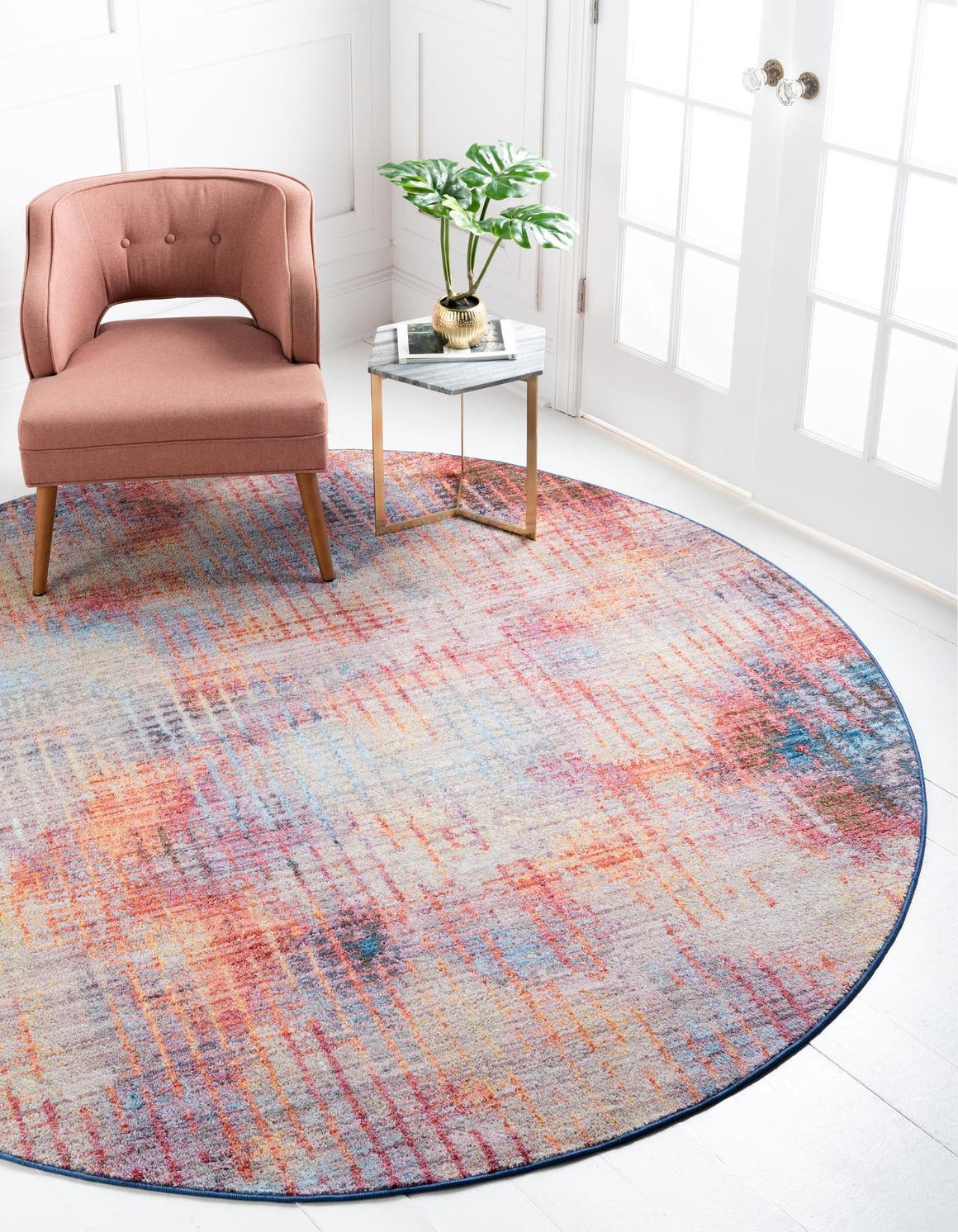 Jill Zarin 8' x 8' Downtown Collection Round Rug main image