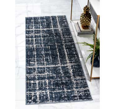 Image of Jill Zarin Navy Blue Uptown Runner Rug