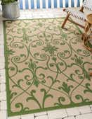 2' 2 x 3' Outdoor Botanical Rug thumbnail