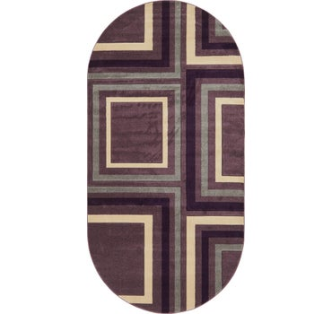 6' 7 x 13' Reproduction Gabbeh Oval Rug main image