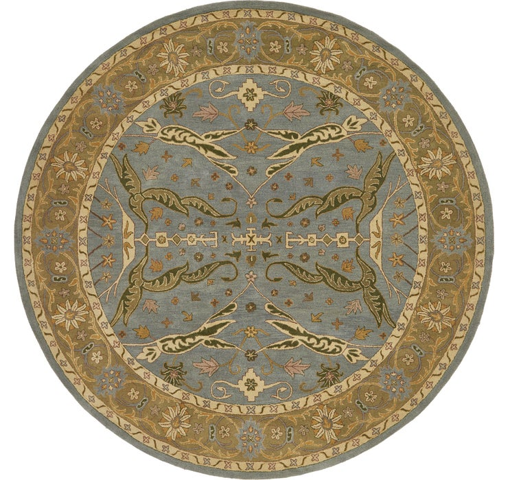 12' 2 x 12' 2 Classic Agra Round Rug