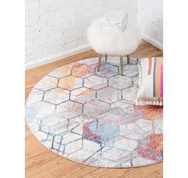 Image of  6' x 6' Andromeda Round Rug