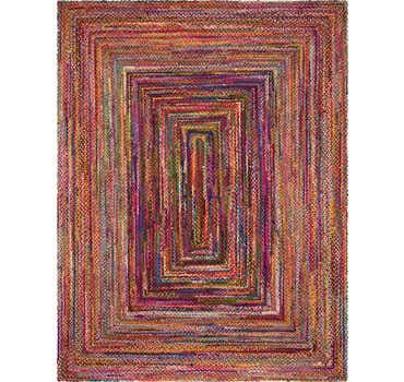 Image of 12' 2 x 16' Braided Chindi Rug
