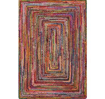 6' x 9' Braided Chindi Rug main image