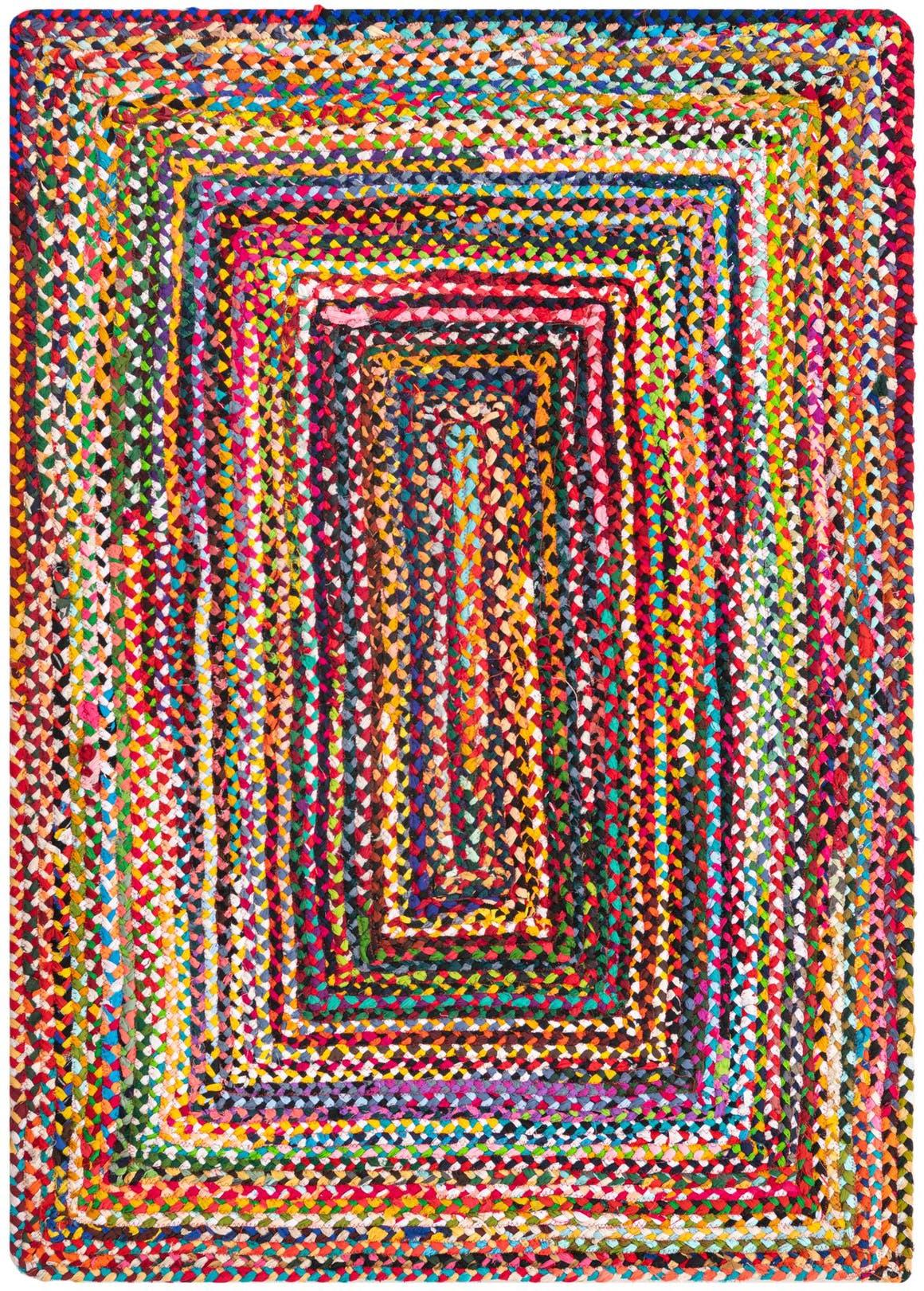 4' x 6' Braided Chindi Rug main image