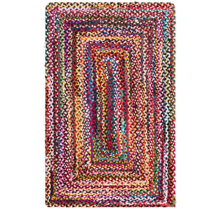100cm x 152cm Braided Chindi Rug