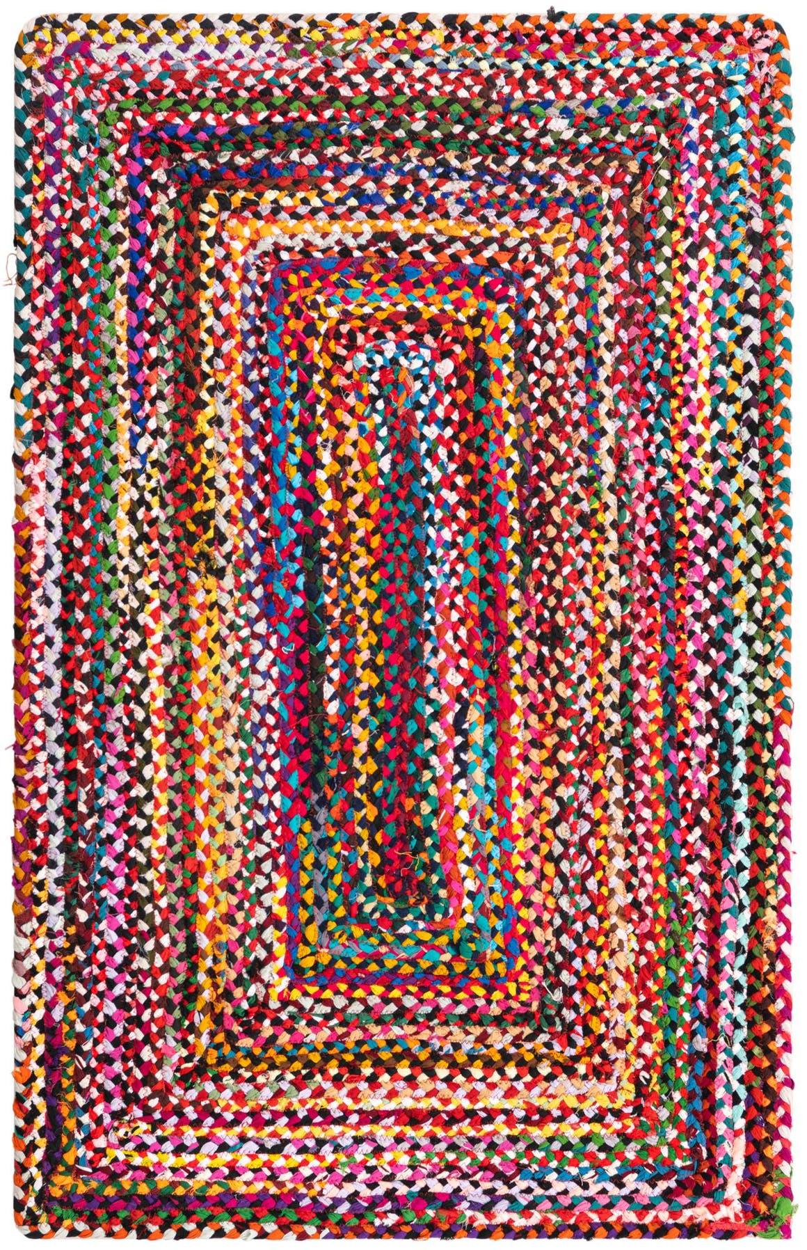3' 3 x 5' Braided Chindi Rug main image