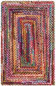 3' 3 x 5' Braided Chindi Rug thumbnail