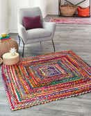 245cm x 245cm Braided Chindi Square Rug thumbnail