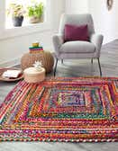 8' x 8' Braided Chindi Square Rug thumbnail