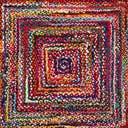 8' x 8' Braided Chindi Square Rug