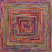245cm x 245cm Braided Chindi Square Rug thumbnail