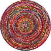 6' x 6' Braided Chindi Round Rug thumbnail
