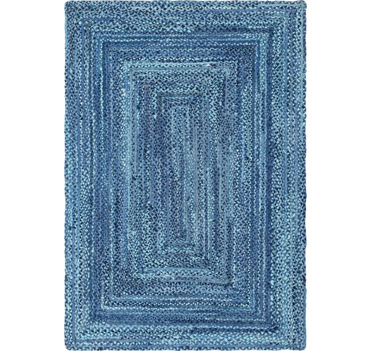 Image of 6' x 9' Braided Chindi Rug