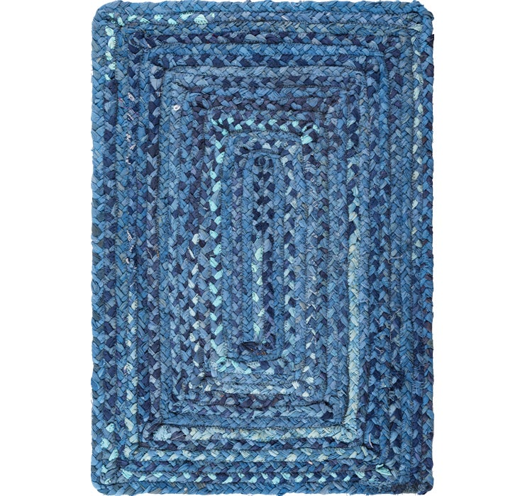 60cm x 90cm Braided Chindi Rug