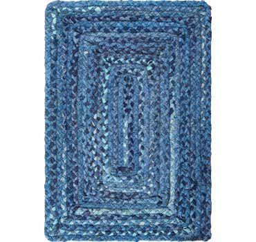 Image of  Blue Braided Chindi Rug