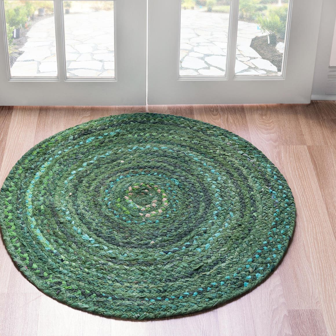 8' x 8' Braided Chindi Round Rug main image