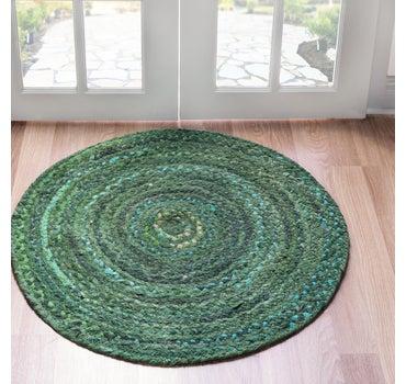 8' x 8' Braided Chindi Round Rug main image