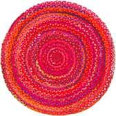 3' 3 x 3' 3 Braided Chindi Round Rug thumbnail
