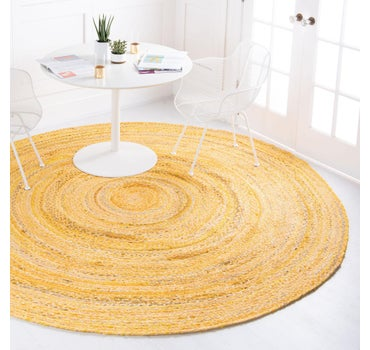 3' 3 x 3' 3 Braided Chindi Round Rug main image