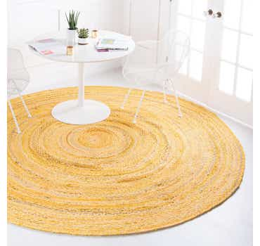 Image of 3' 3 x 3' 3 Braided Chindi Round Rug