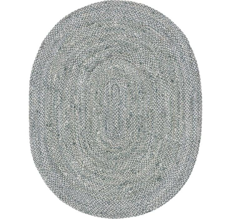 245cm x 305cm Braided Chindi Oval Rug