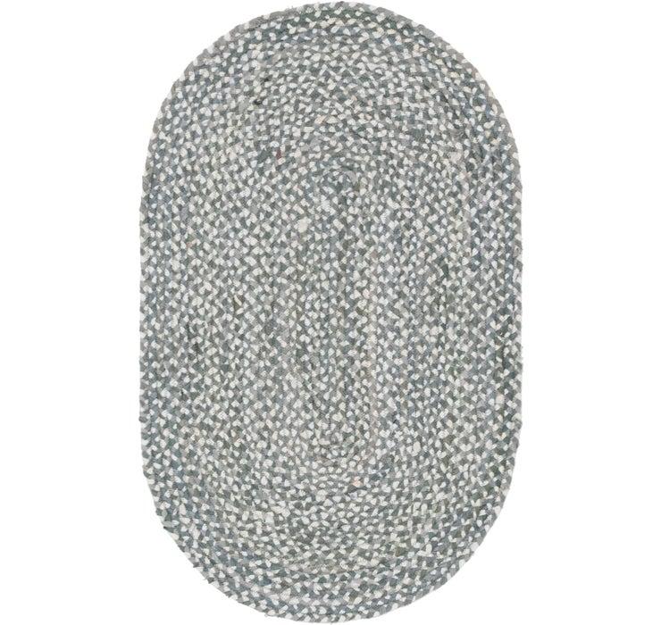 100cm x 152cm Braided Chindi Oval Rug