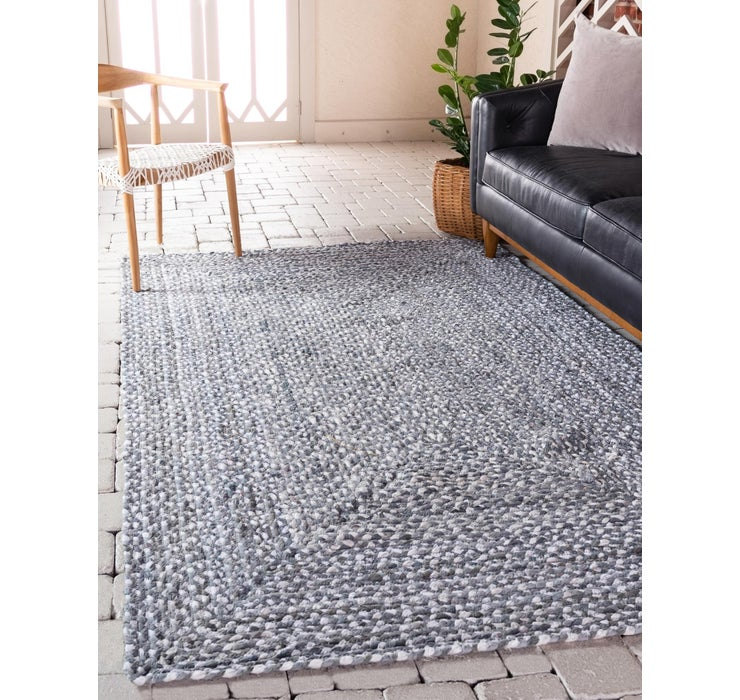 245cm x 305cm Braided Chindi Rug