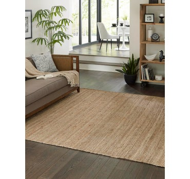 6' x 6' Braided Jute Square Rug main image