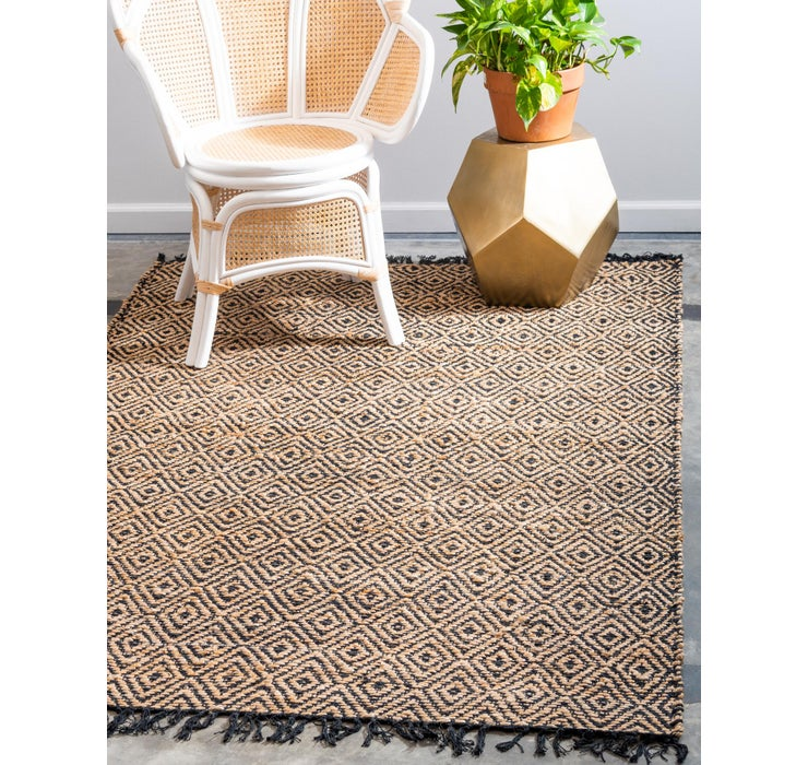 Image of 100cm x 152cm Braided Jute Rug