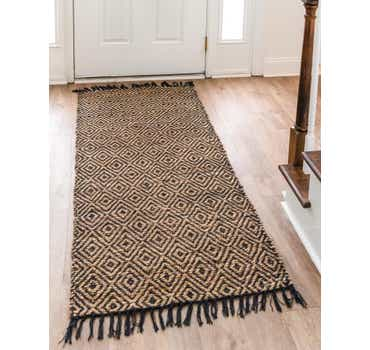 Image of  Black Braided Jute Runner Rug
