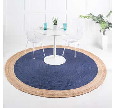 Image of  8' x 8' Braided Jute Round Rug
