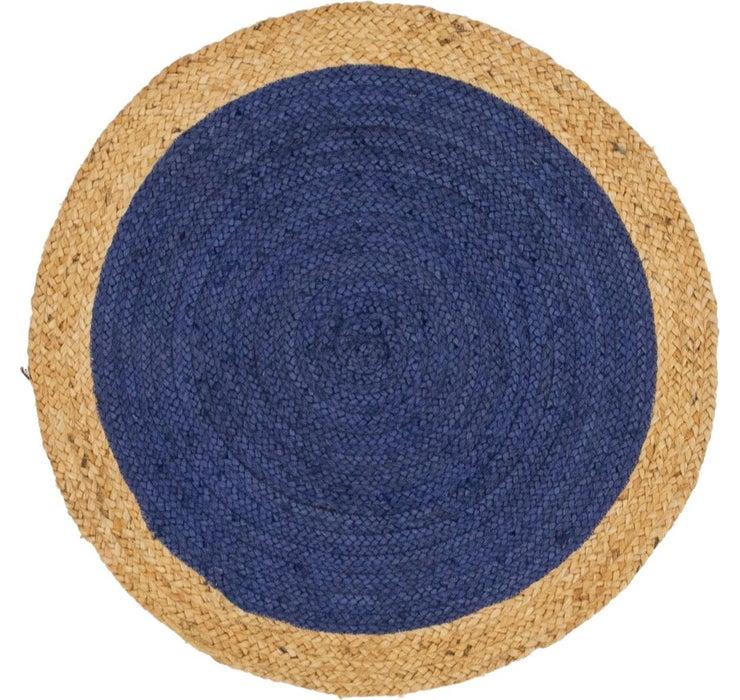 100cm x 100cm Braided Jute Round Rug