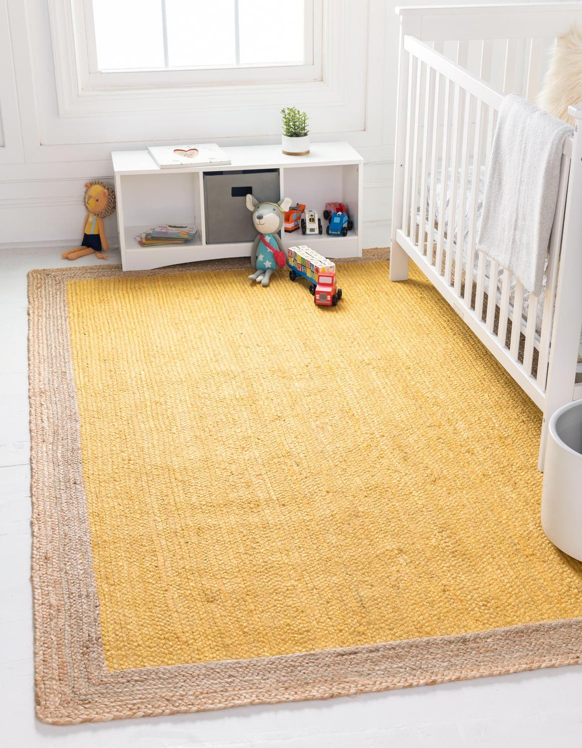 Yellow 5 X 8 Braided Jute Rug Rugs Com