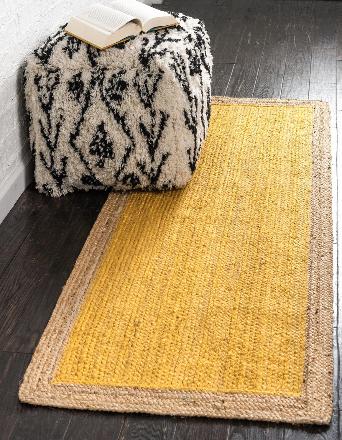 Braided Jute Runner Rug
