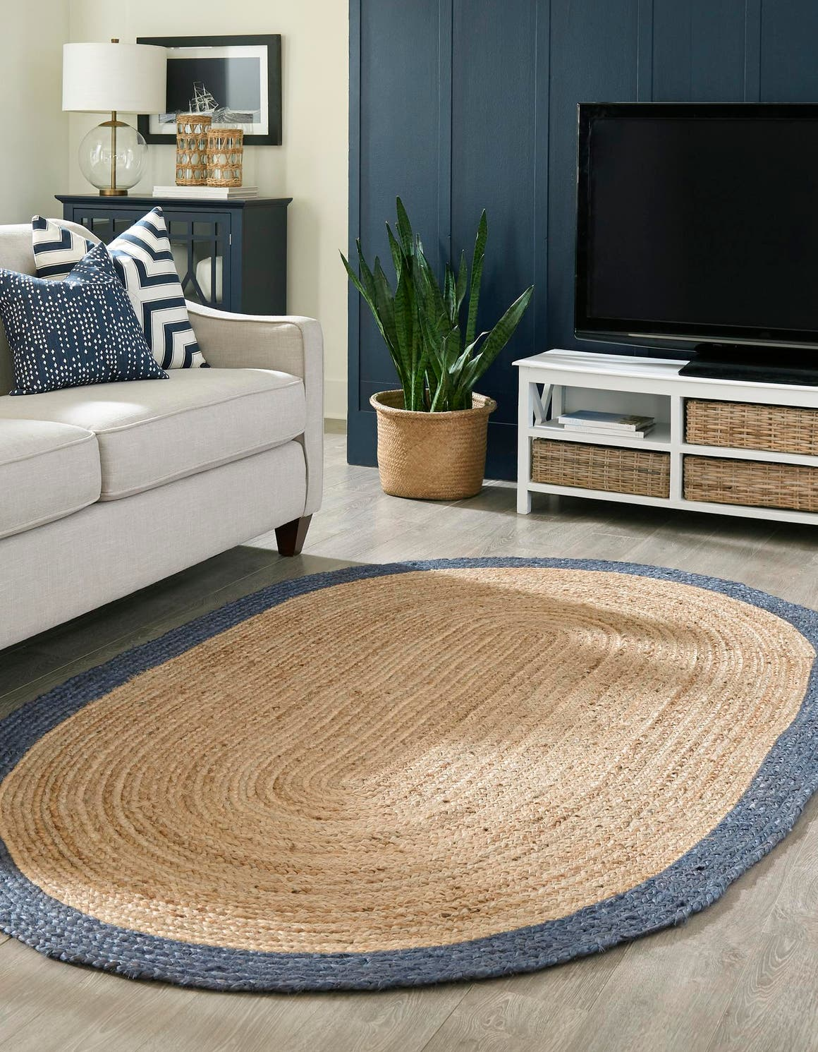 3' 3 x 5' Braided Jute Oval Rug main image
