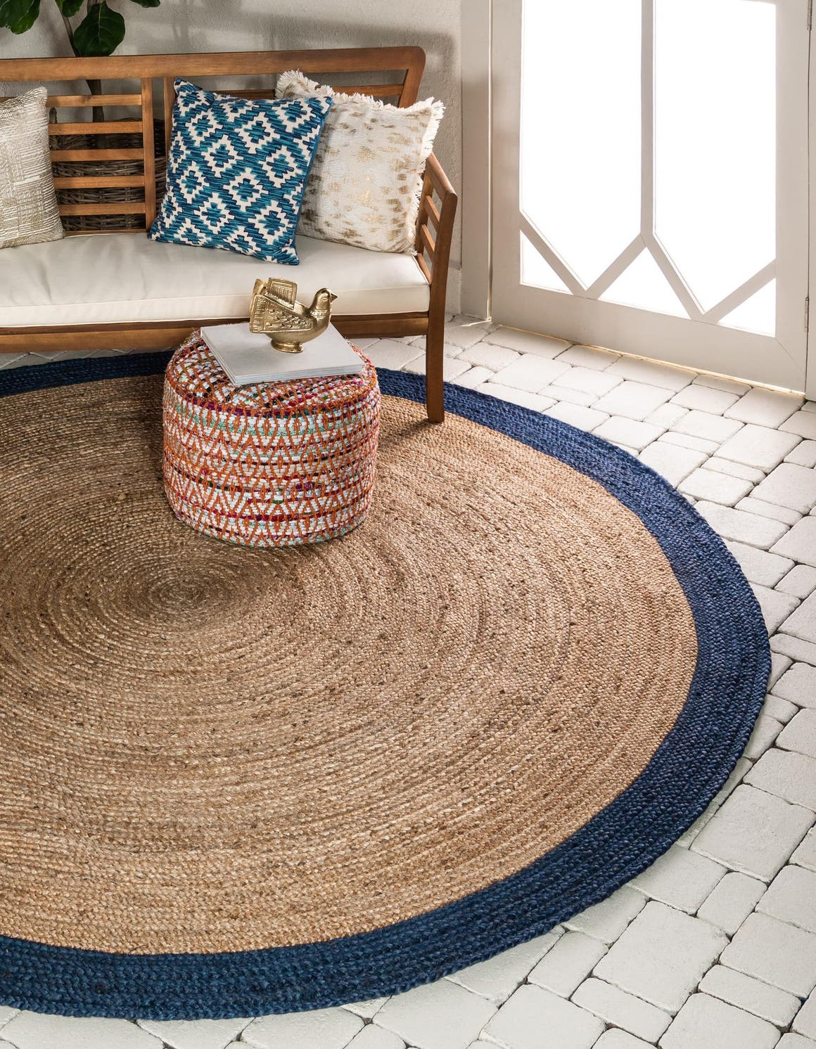 Natural 8 X Braided Jute Round Rug