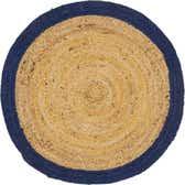 100cm x 100cm Braided Jute Round Rug thumbnail