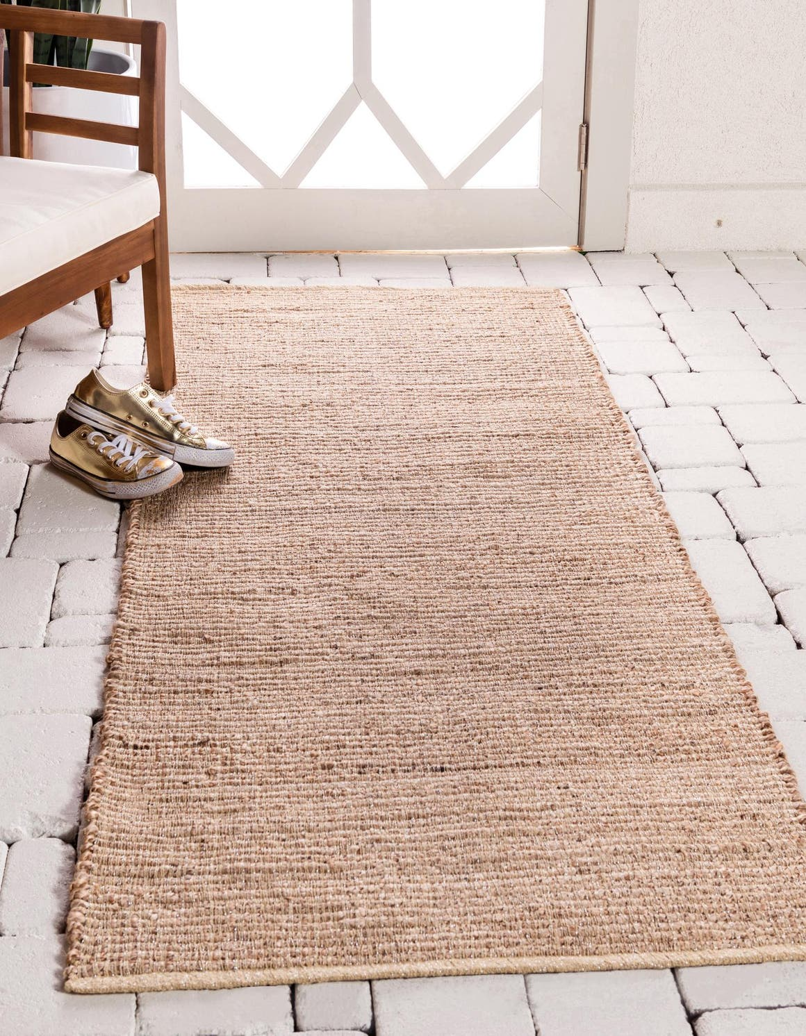 2' 6 x 6' Metallic Jute Runner Rug main image