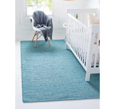 Image of  Turquoise Gilded Jute Rug
