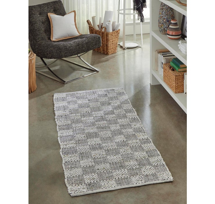 2' 6 x 6' Chindi Cotton Runner Rug