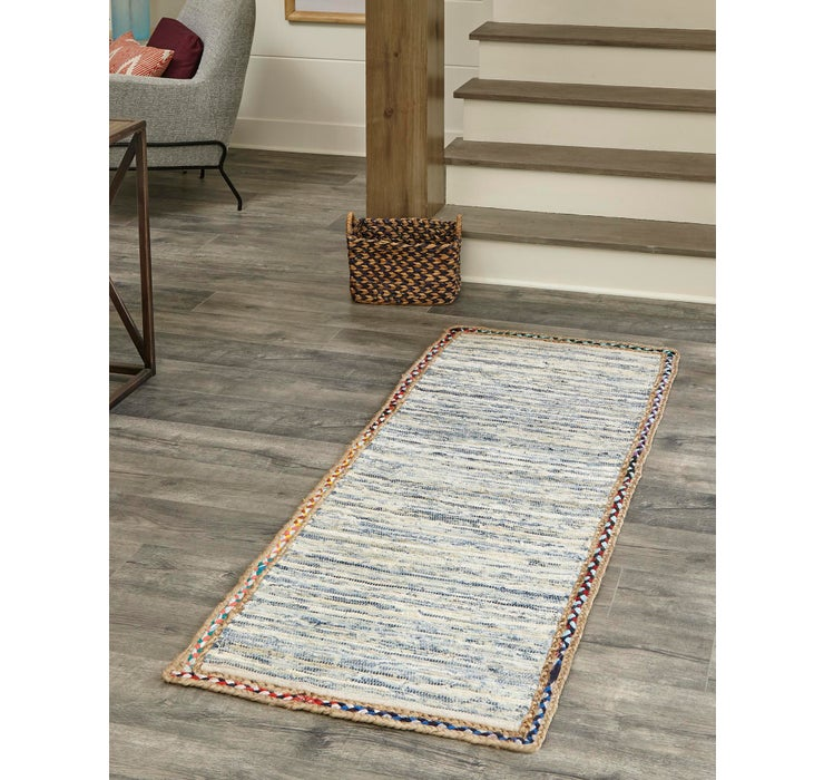 Image of 2' 6 x 6' Chindi Jute Runner Rug